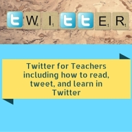 Twitter for Teachers including how to read, tweet, and learn in Twitter