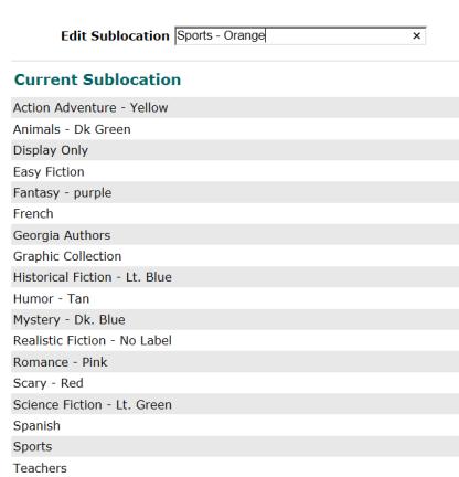 sublocation w colors